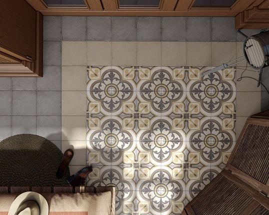 Ковровая плитка 20х20 см с орнаментом для пола