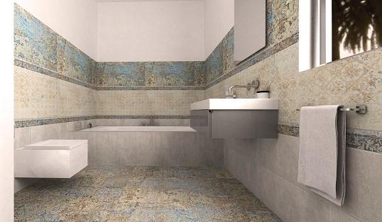 Потертый шик для ванной комнаты в стиле лофт