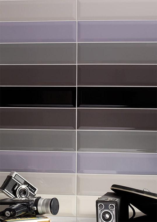 Разноцветный кирпичик с фаской, для внутренней отделки