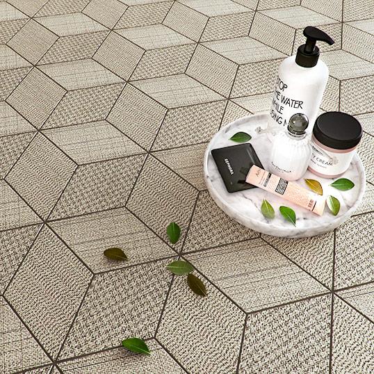 Тактильная шестиугольная плитка с кубическим рисунком