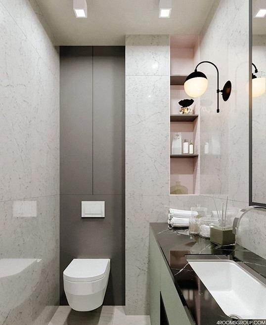 Белая плитка под каррарский мрамор для ванной, новинка 2018