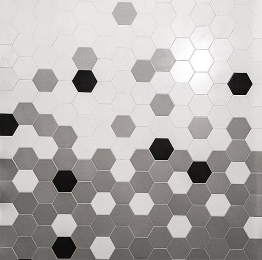 Шестиугольная плитка моноколор для пола и стен