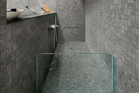 Нордическая плитка с мозаикой для ванной и душа