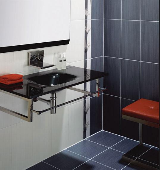 Темно серая плитка в ванную комнату