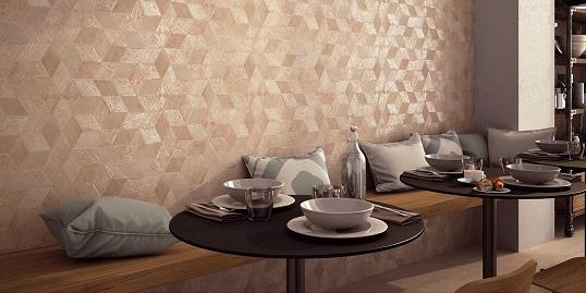 Жаккардовая плитка под ткань шестиугольной формы