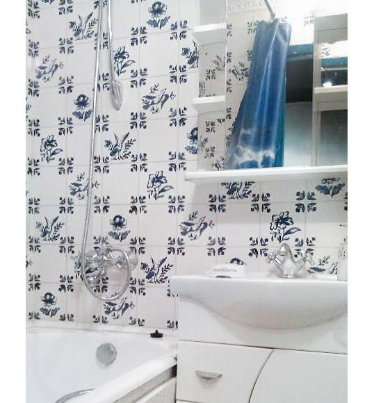 Синяя плитка в голландском стиле 15х15 см
