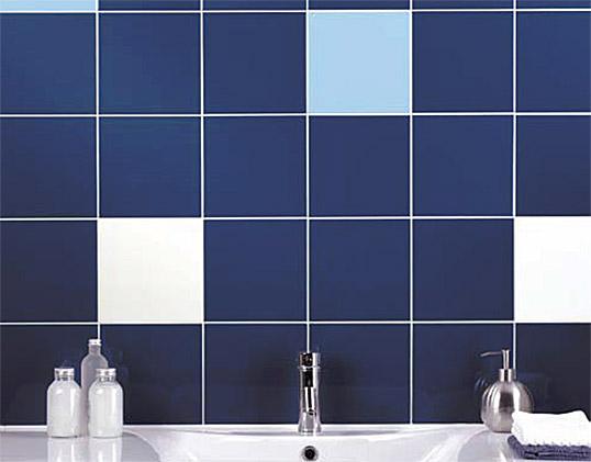 Синяя плитка 20х20 см для ванной комнаты