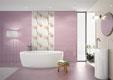 Дизайн ванной фото сиреневого цвета плитка 244