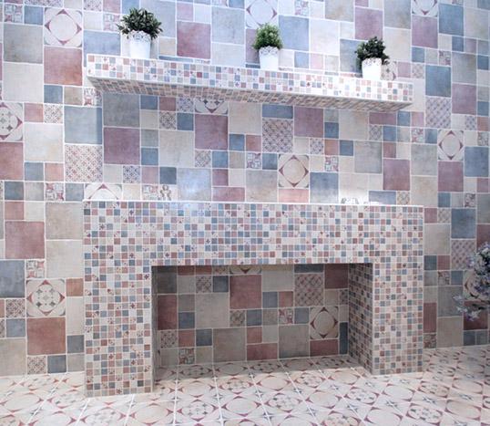 Плитка сиреневого цвета для ванной