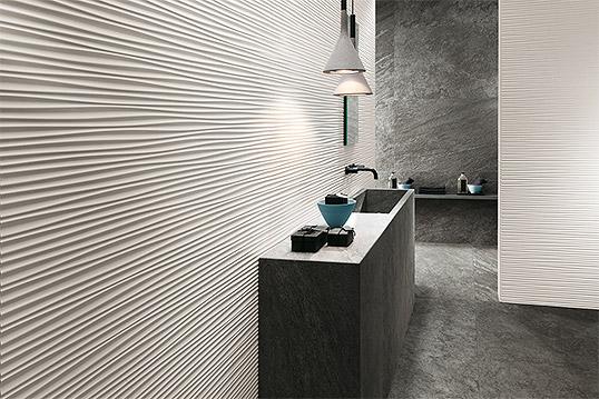 Модная рельефная плитка для ванной большого размера
