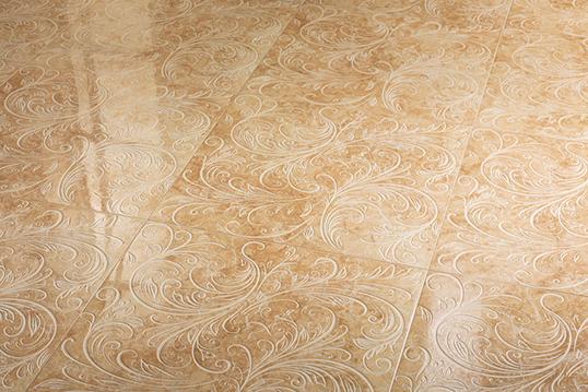 Напольная плитка под мрамор бежевая, с рисунком