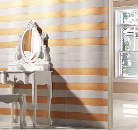 Желтая плитка для ванной с 3D эффектом