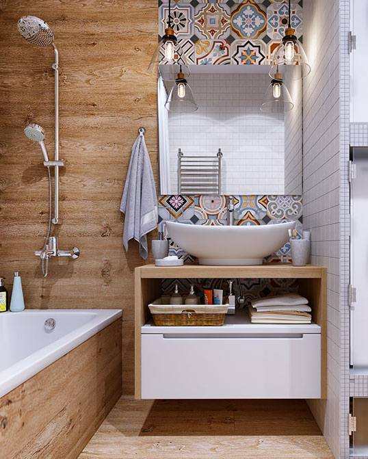 Испанская плитка пэчворк для ванной