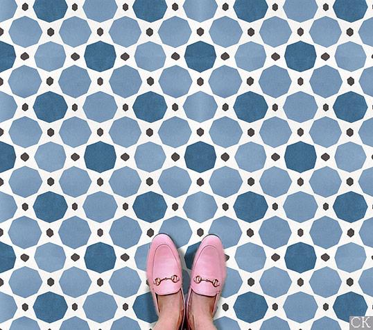 Восточная плитка для пола и стен, в синих тонах