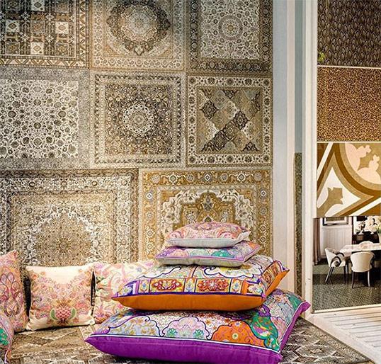 Дизайнерская плитка с эффектом персидского ковра