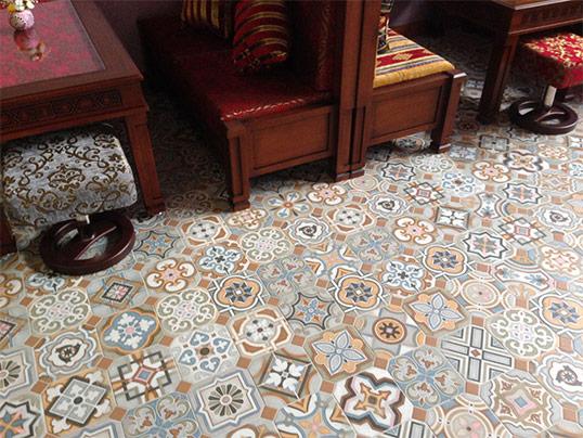 Напольная восточная плитка в мароканском стиле