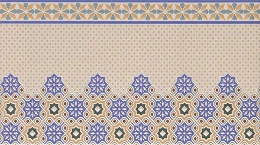 Настенная плитка в восточном стиле с ажурным рисунком