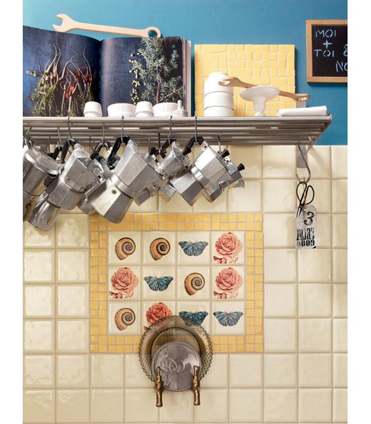 Выпуклая плитка 10х10 для кухни