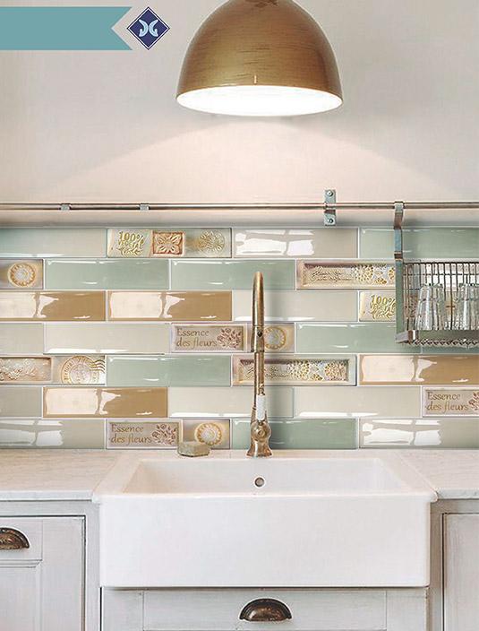 Рельефная выпуклая плитка для кухни