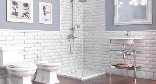 Выпуклая плитка для ванной комнаты в стиле кракелюр
